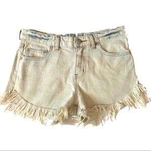 Free People Jean Shorts 26  frayed distressed